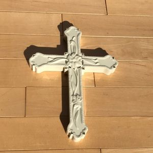 Beautiful Lenox Easter Baptism Lily Cross w gold